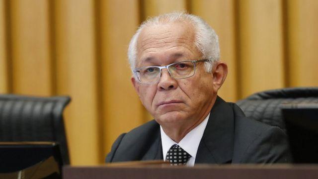 O presidente do TST, Brito Pereira, no plenário do tribunal