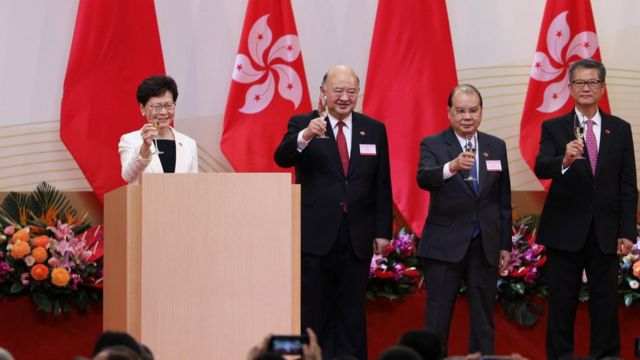 Carrie Lam and other Hong Kong dignitaries