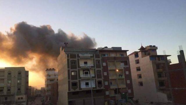 دخان ناجم عن التفجير
