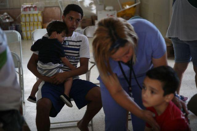 Afectados por el huracán María en Puerto Rico.