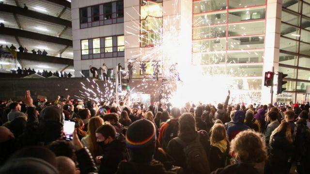Firework set off in crowd