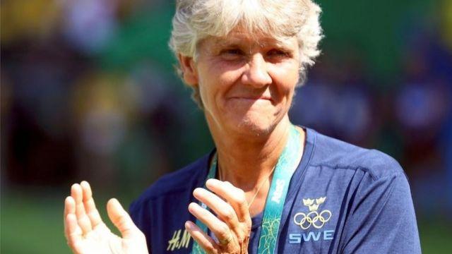 Pia Sundhage na Olimpíada de 2016