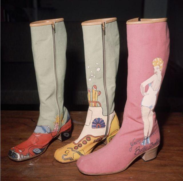 Вдохновленные Yellow Submarine сапоги ручной работы обувного дизайнера Ричарда Эванса