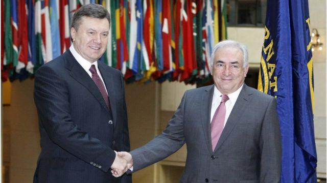 Янукович и Стросс-Канн