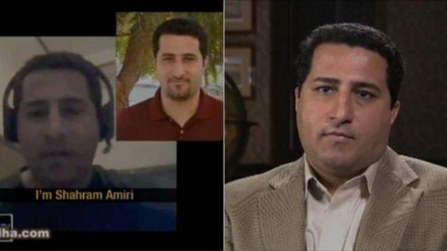 Imágenes de los tres diferentes videos que publicó Amiri en internet