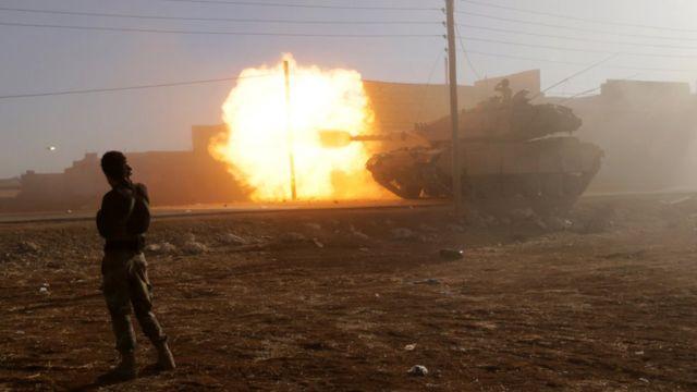 دبابة تركية داخل سوريا