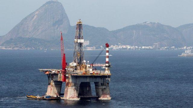 Plataforma da Petrobras na Baía da Guanabara