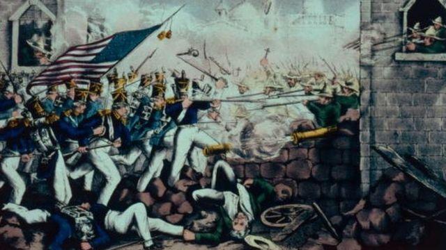 Ilustración de la Batalla de Monterrey