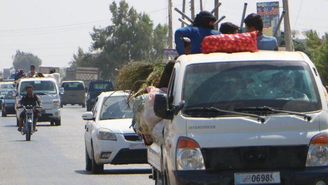 بعض المدنيين يغادرون المناطق المعرضة لأي هجوم