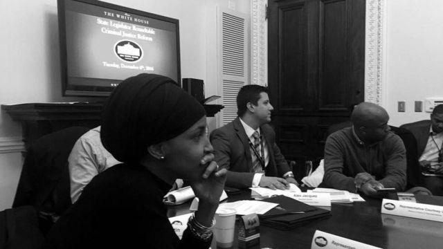 Ilhan Omar assistait à un stage de politique à la Maison Blanche