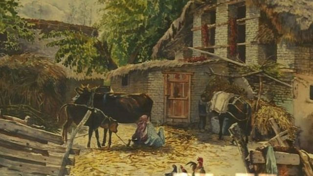 मसूद हुसैन की पेंटिग