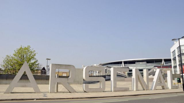 The giant Arsenal letters