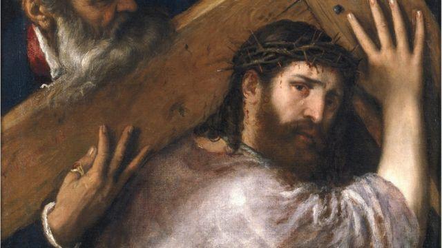 Jesús cargando la cruz, de Tiziano