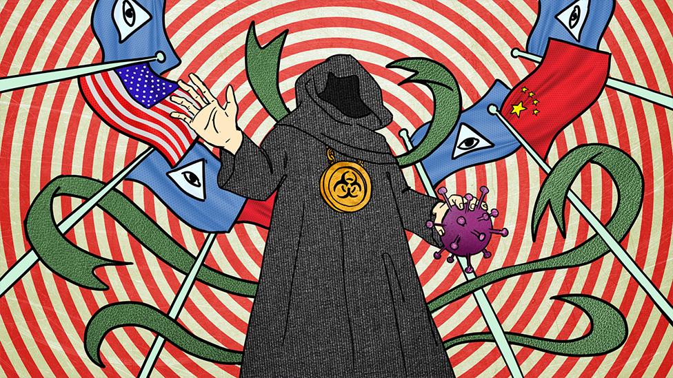 """5G, вакцины и """"цифровое порабощение"""": коронавирус новый, а теории заговора старые - BBC News Русская служба"""