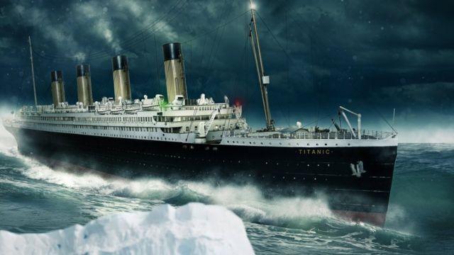 Ilustración del Titanic
