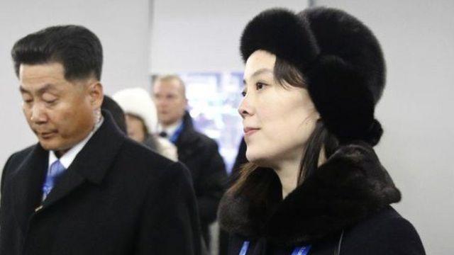 પ્રતિનિધિમંડળ સાથે કિમ જોંગ ઉનનાં બહેન કિમ યો જોંગ