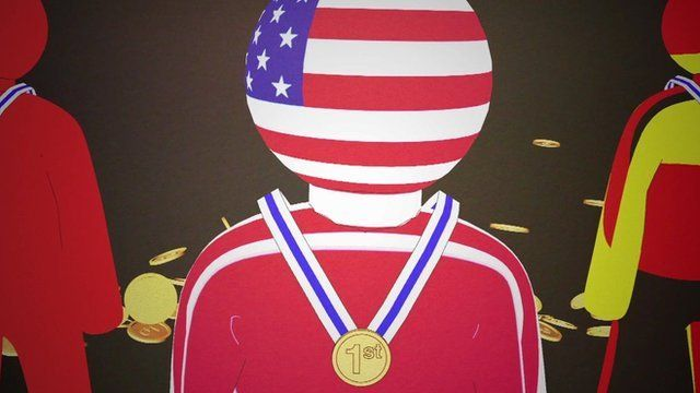 Graphic of an Olympic medallist