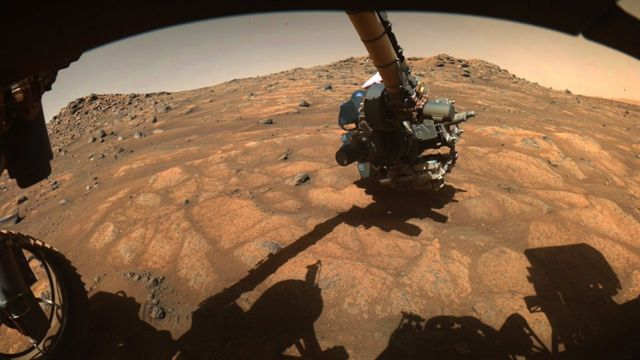 """An area on Mars nicknamed the """"Cratered Floor Fractured Rough"""""""