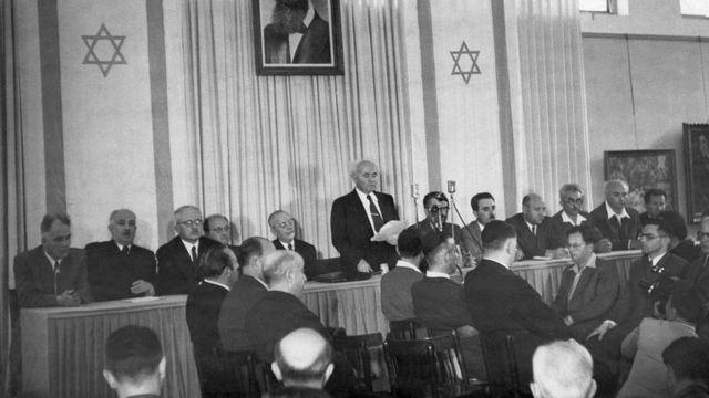 Ông David Ben Gurion đọc Tuyên ngôn Độc lập cho nước Israel năm 1948