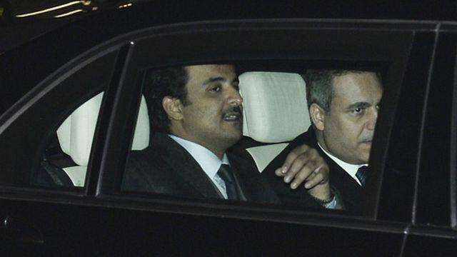 Katar Emiri el Sani ve MİT Başkanı Hakan Fidan