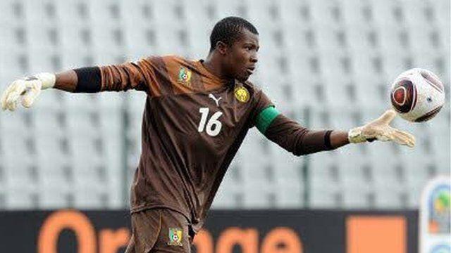 Jean Efala daga Kamaru yana taka leda ne a kungiyar Akwa United