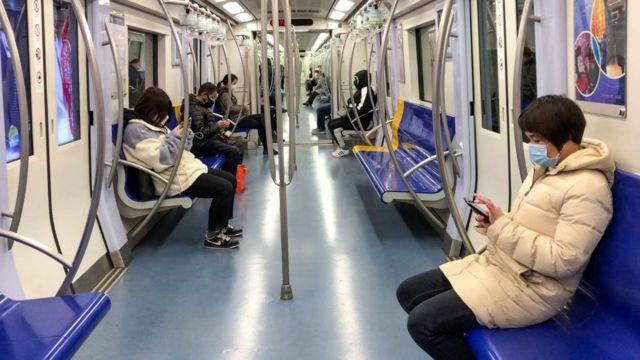 metro sin personas en china