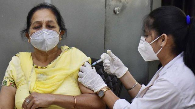 全球不到5%的人口完整接种疫苗。(photo:BBC)
