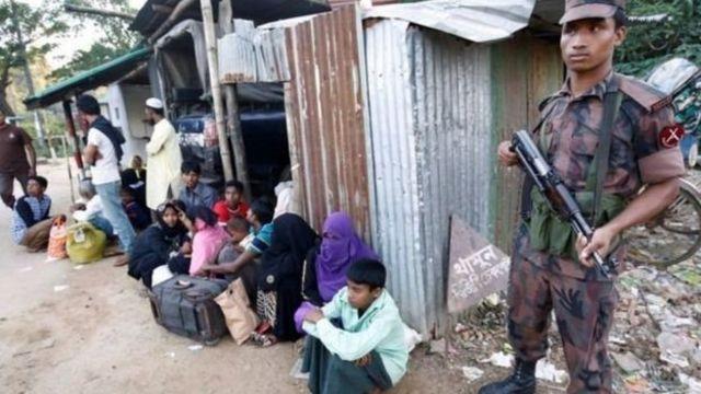 Jami'an da ke kula da kan iyaka sun tsare Musulmin Rohingya da dama