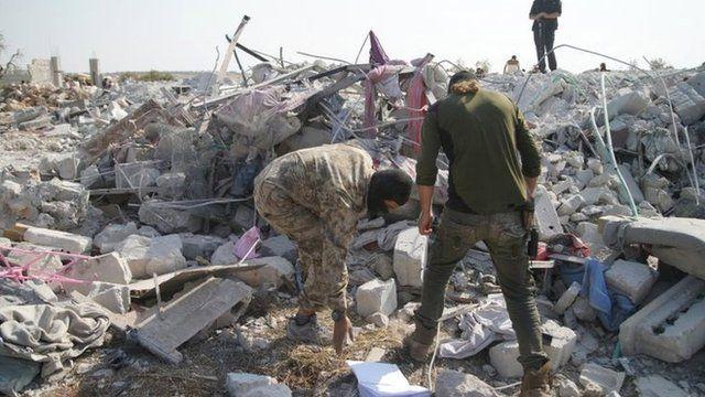 Local do ataque a Abu Bakr al-Baghdadi