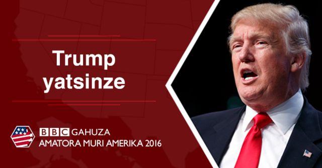 Donald Trump abaye umukuru w'igihugu wa Amerika agira 45