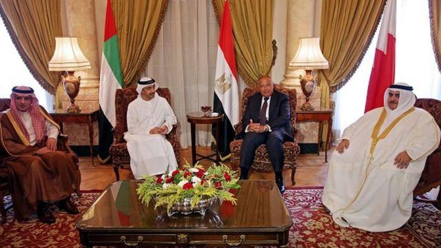 Suudi Arabistan, BAE, Mısır ve Bahreyn Dışişleri Bakanları, Temmuz 2017