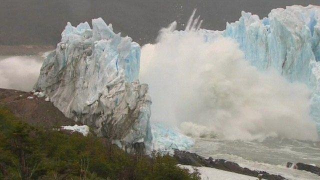 """Perito Moreno Glacier known as the """"White Giant"""" in Argentina"""
