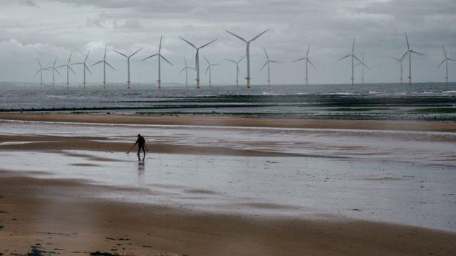 Wind farm in Redcar, Teesside