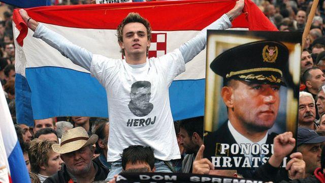 протест проти затримання Анте Готовіни
