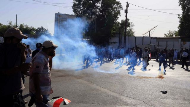Clashes in Baghdad's Green Zone