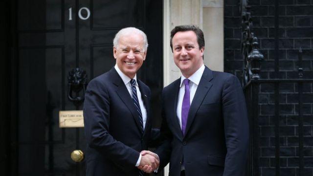 Joe Biden e David Cameron