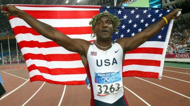 Justin Gatlin, campeón olímpico en Pekín 20014.