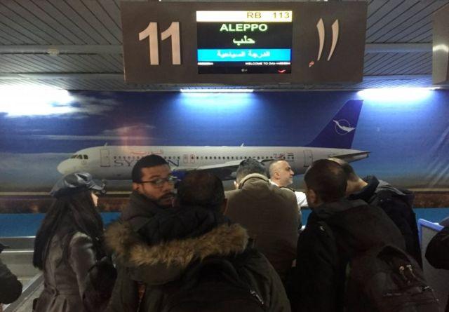 Şam-Halep seferini yapan Suriye Hava Yolları'na ait uçak Halep uçuş
