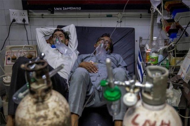 Rumah sakit India, Covid,virus corona, pasien