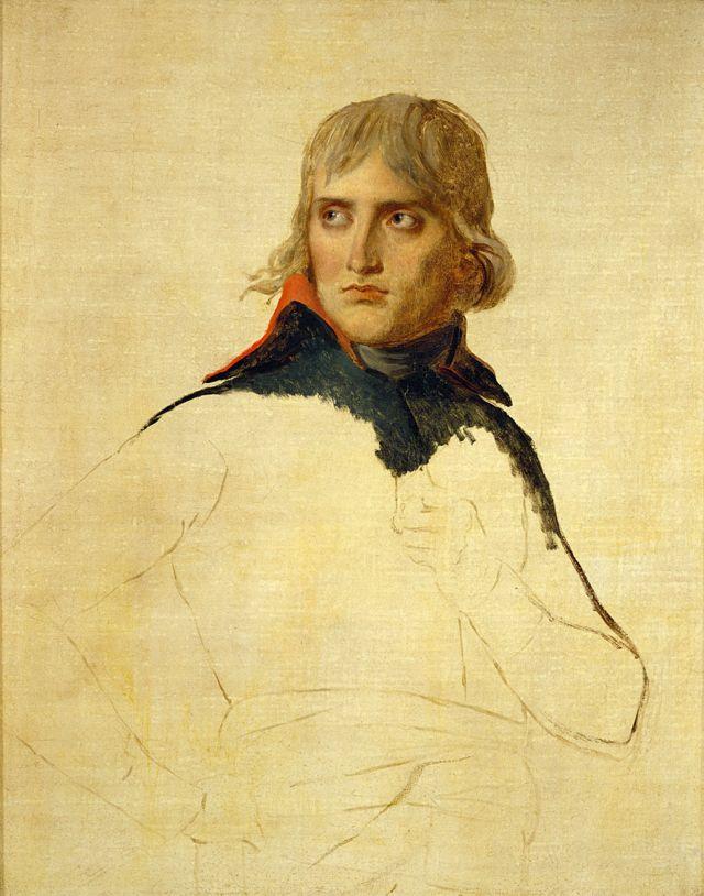 Retrato inconcluso de Napoleón hecho por Jacques-Louis David