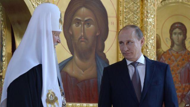 Руски патријарх Кирил и председник Владимир Путин