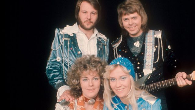 Abba circa 1974-83 (top l-r) Benny Andersson , Bjorn Ulvaeus (bottom l-r) Anni-Frid Lyngstad, Agnetha Faltskog.