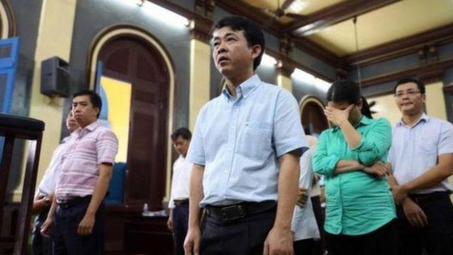 Ông Nguyễn Minh Hùng, nguyên Tổng Giám đốc Công ty VN Pharma, trong phiên sơ thẩm năm 2018