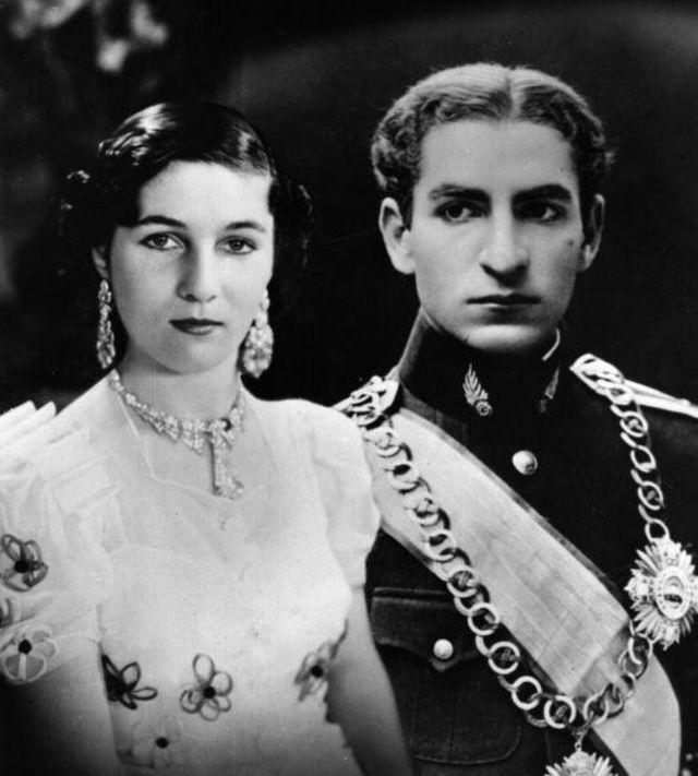 محمدرضا و فوزیه دختر پادشاه مصر