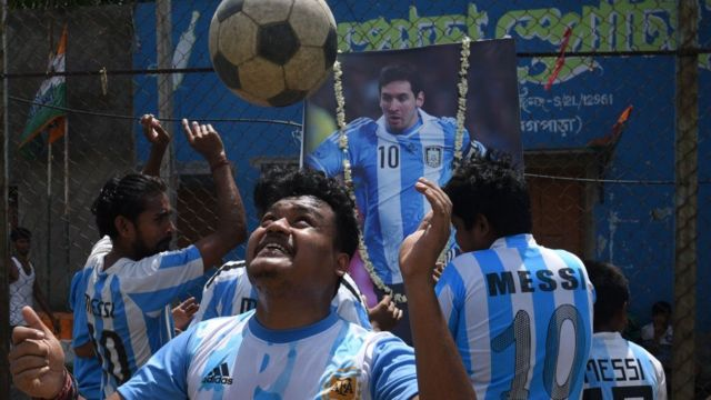 Messi fans in India.