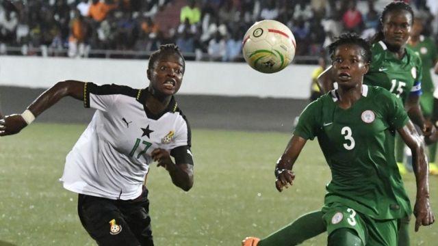 Super Falcons orilẹẹde Naijiria pelu Ghana lori papa