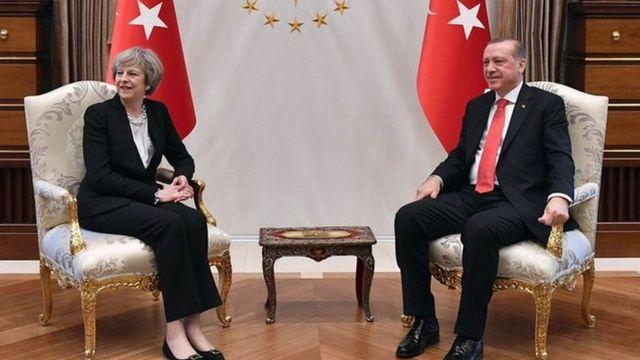 Theresa May və Recep Tayyip Erdogan