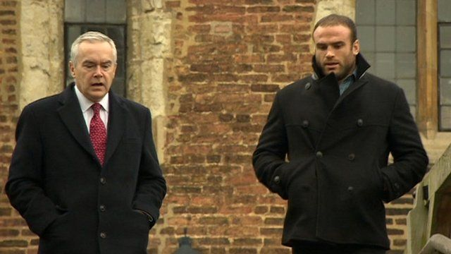 Huw Edwards and Jamie Roberts