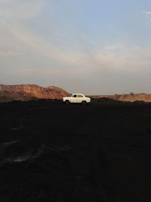 Alfombra de carbón en Jharia