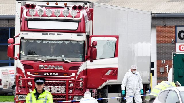 Lorry and forensics